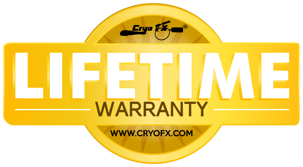 CryoFX® offers Lifetime Warranty on all CO2 FX Products and Equipment