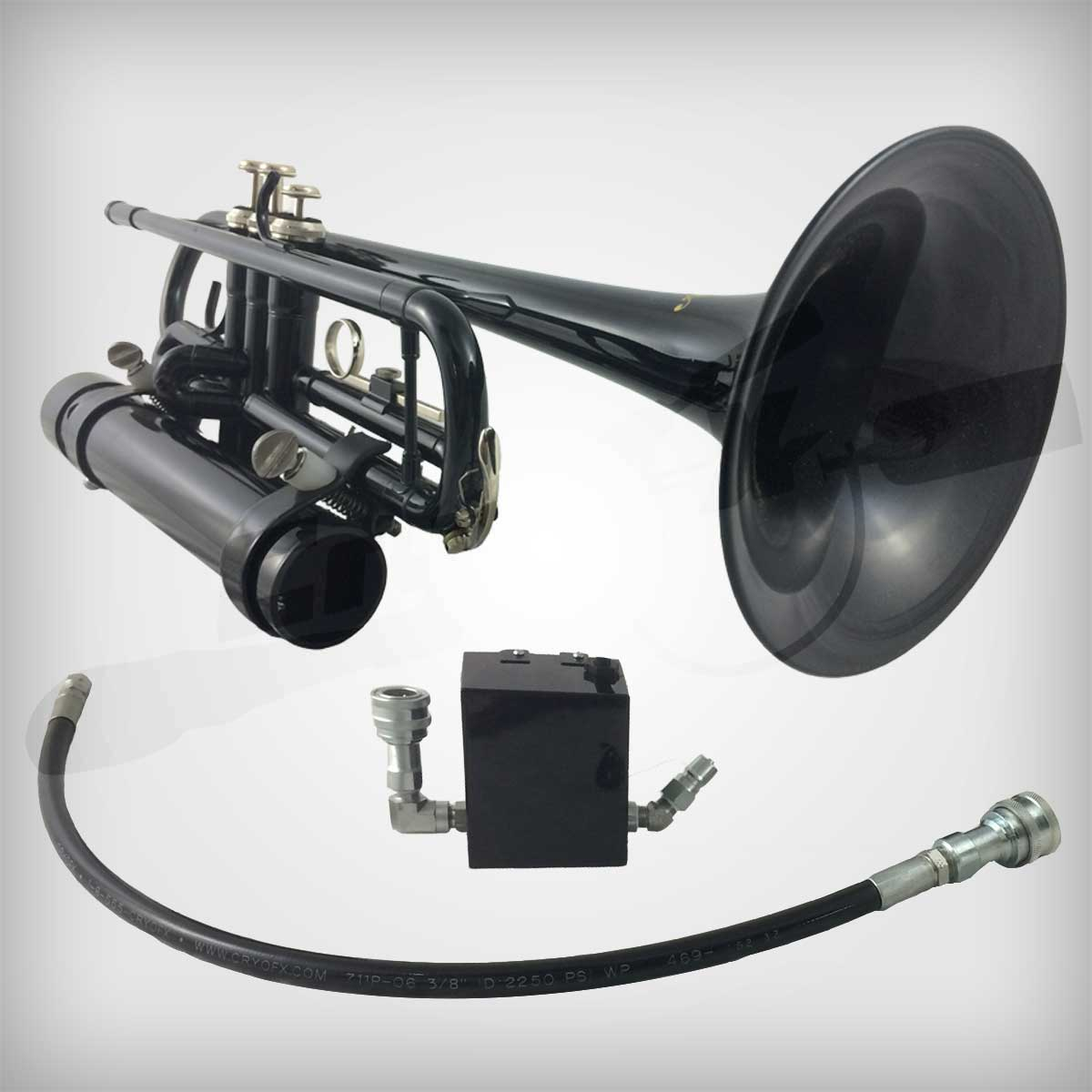 Custom CO2 Special Effects Built Equipment - Custom Smoke FX Trumpet by CryoFX®