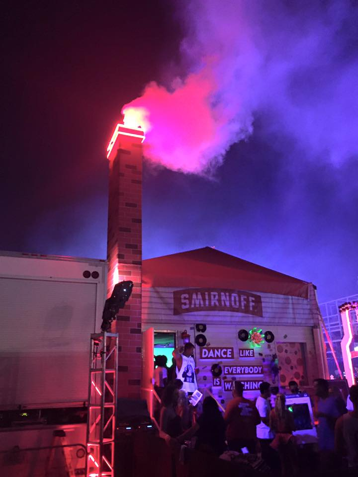 Custom CO2 Special Effects Built Equipment - Smirnoff CO2 Custom Chimney by CryoFX®