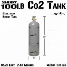 Short 100lb Co2 Tank (Siphon Tube)