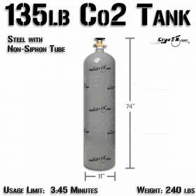 135lb Co2 Tank (Non Siphon)