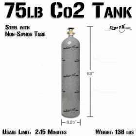 75lb Steel Co2 Tank (Non Siphon)