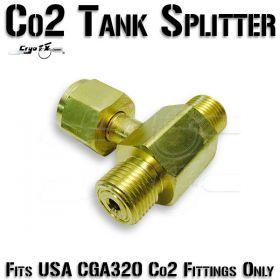 Co2 Tank Splitter (2-Way)