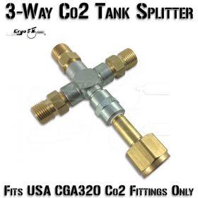 Co2 Tank Splitter (3-Way)
