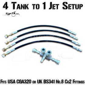 4 Co2 Tank to 1 Jet Setup