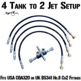 4 Co2 Tank to 2 Jet Setup