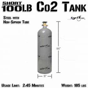 Short 100lb Co2 Tank (Non Siphon)