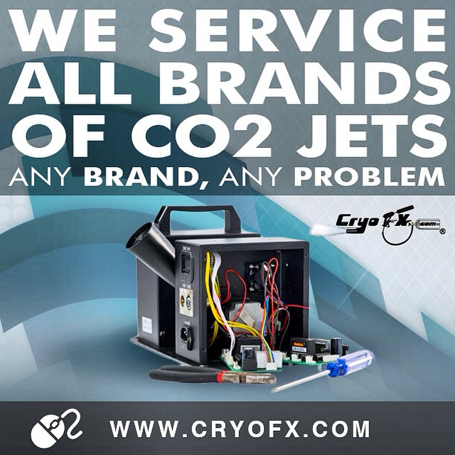 CO2 Special Effects Equipment Repairs and Troubleshooting